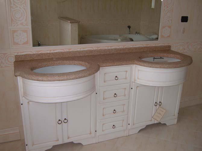 Top bagno roi graniti group s r l - Lavandini con mobiletto ...